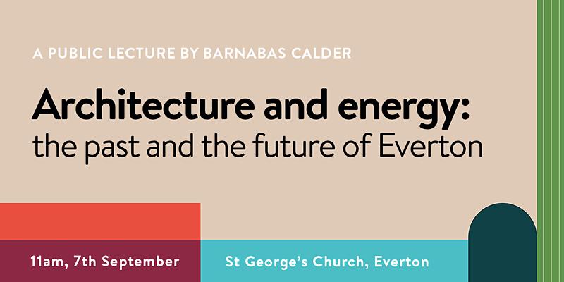 Public Lecture: Tue 7th Sep